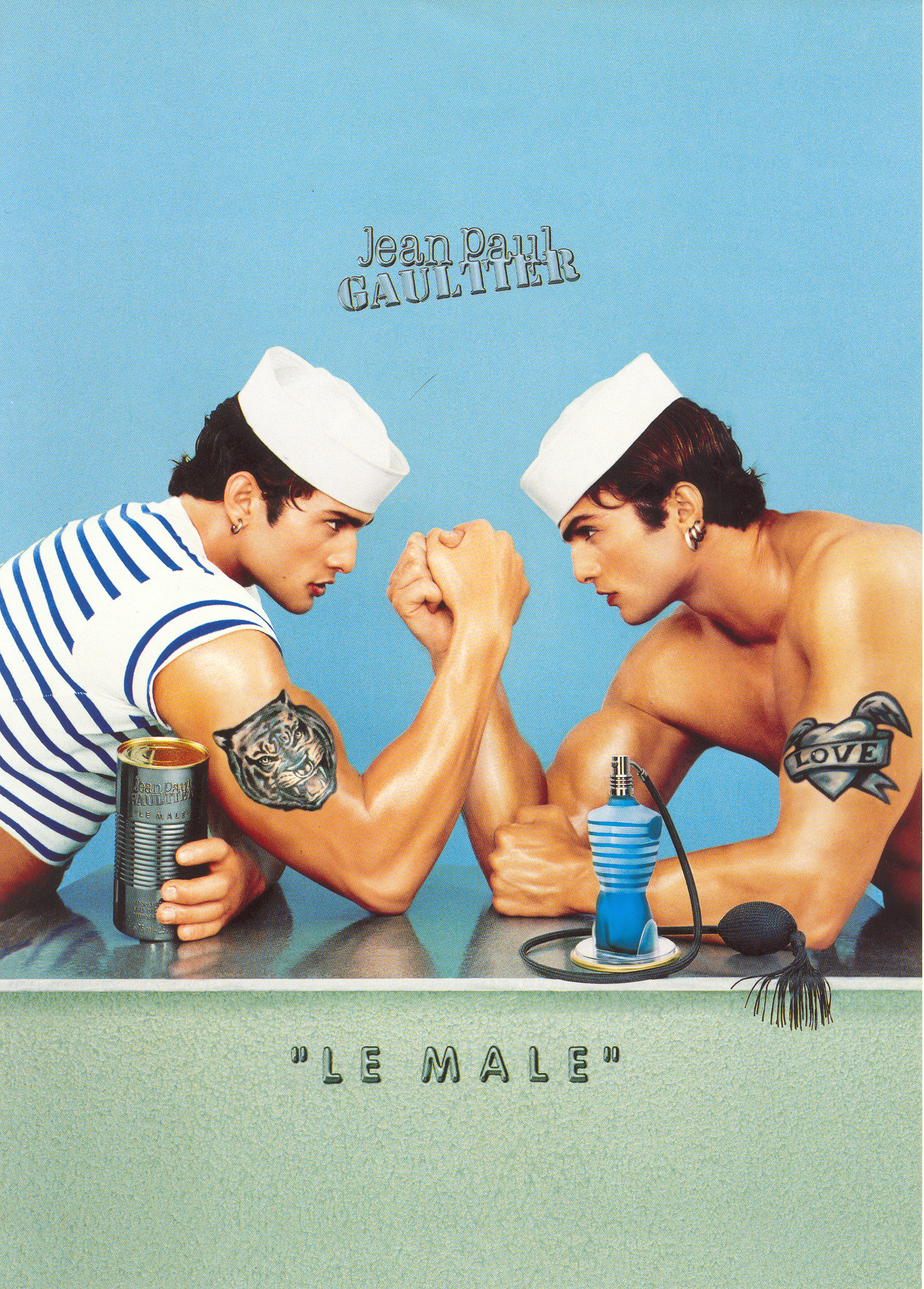 1995 1998%20 %20LE%20MALE%20%E2%95%95Jean Baptiste%20Mondino - Jean Paul Gaultier  celebra con mucho ORGULLO el 25 aniversario de LE MALE